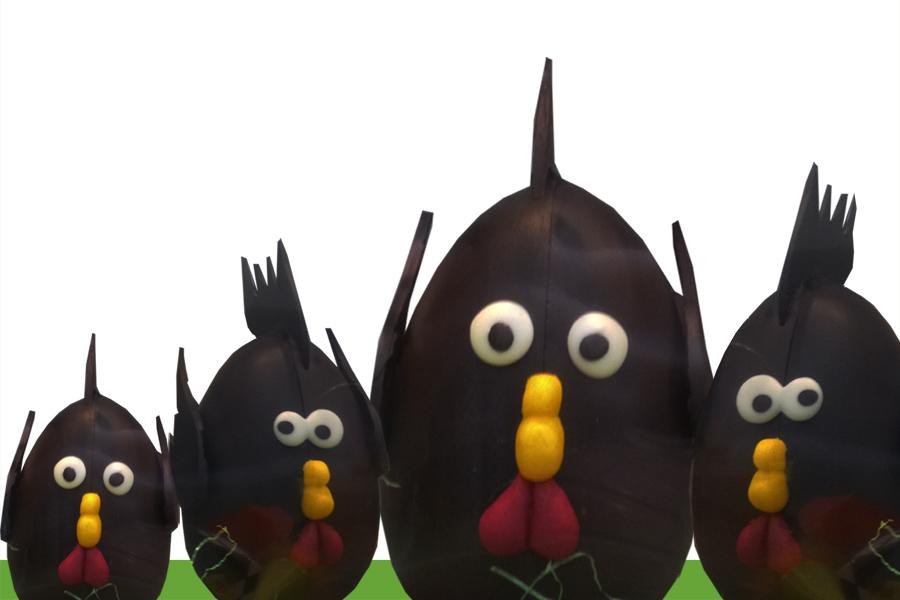 poules chocolat Pâques