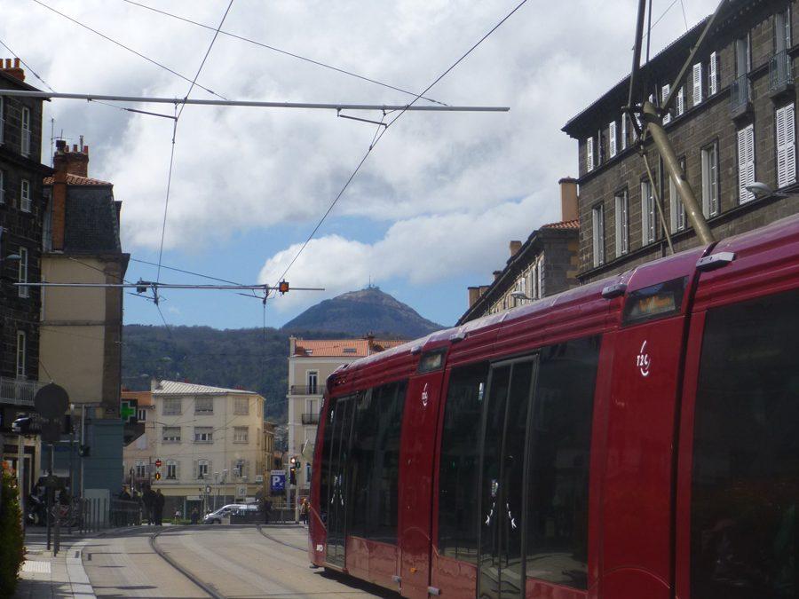 Tramway, visiste, balade, ville, architecture, Clermont, Montferrand