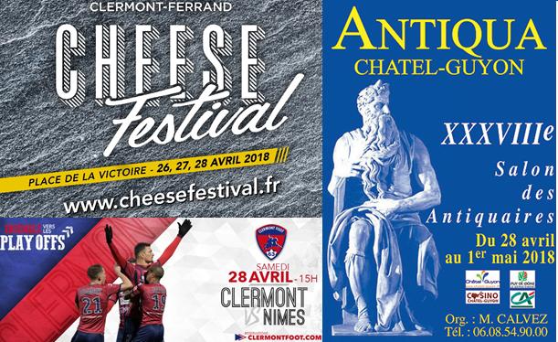 visuel agenda du 27 au 29 avril à Clermont-fd