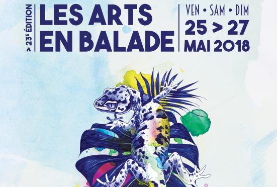 affiche des arts en balade 2018 à Clermont-Fd