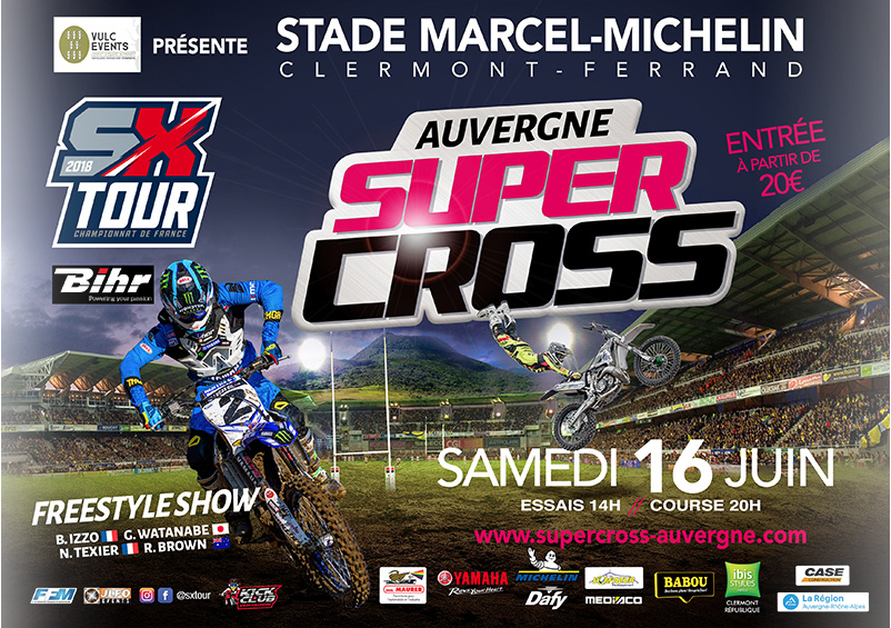 visuel du super cross de clermont-fd 2018