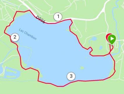 Carte du tour du lac Chambon
