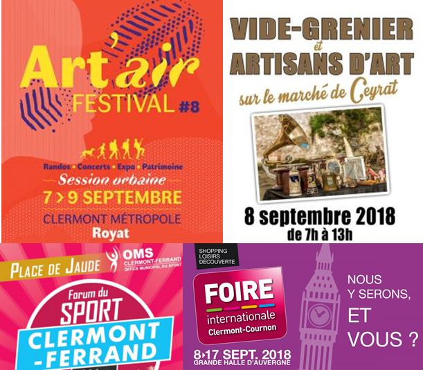 image pour représentée les festivités du week-end du 7 au 9 septembre près de Clermont-Fd