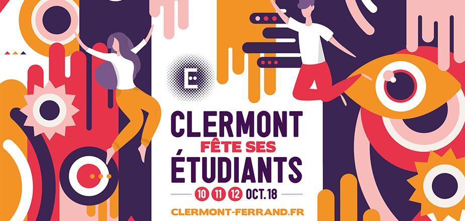 visuel de clermont fête ses étudiants