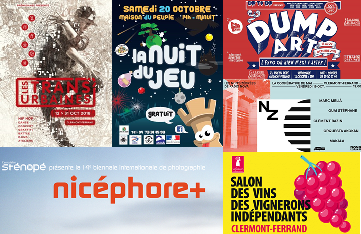 multi images de l'agenda du week-end du 19 au 21 octobre à Clermont-Fd