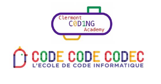 visuel de la Clermont Coding Academy, école de Code de Clermont-Fd