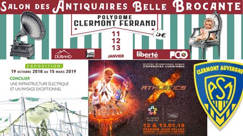 image de l'agenda du week-end du 11 au 13 janvier à Clermont-Fd