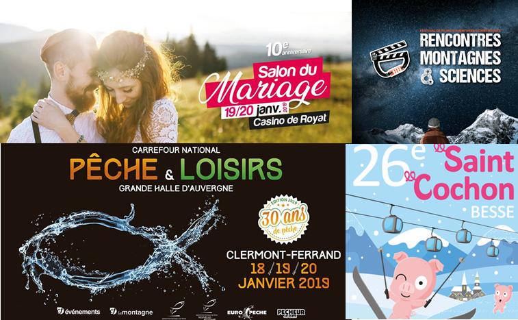 visuel de l'agenda du week-end du18 au 20 janvier à Clermont-Fd