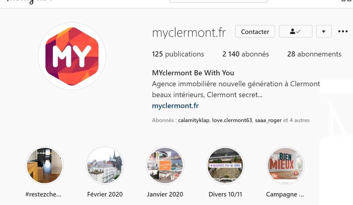 image qui représente le live instagram de Myclermont